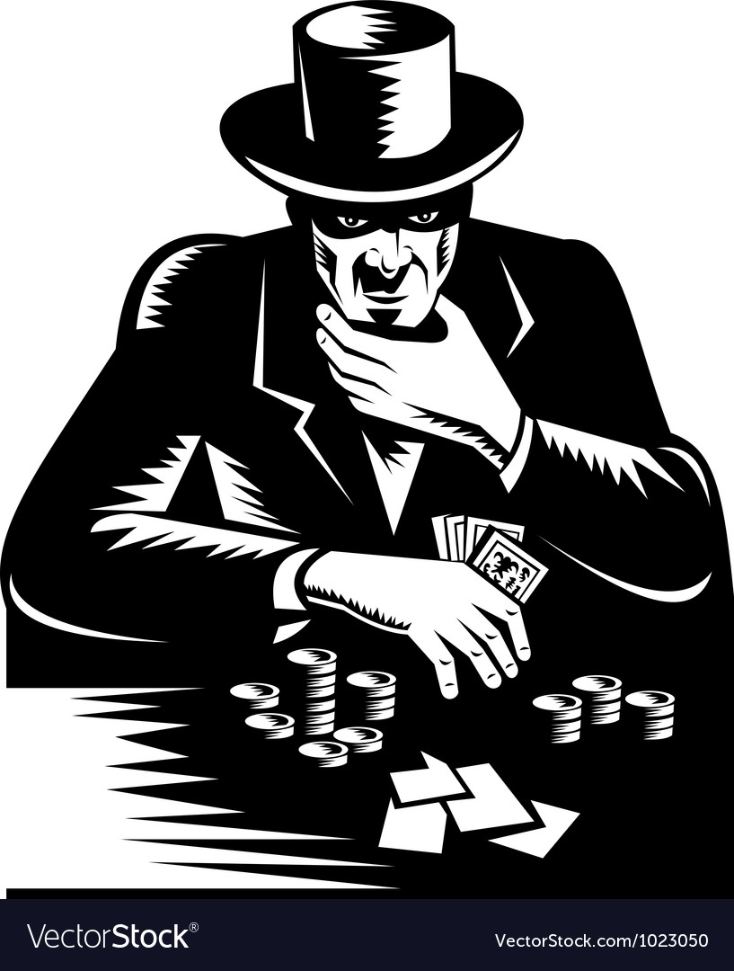 Poker player gambler vector | Price: 1 Credit (USD $1)