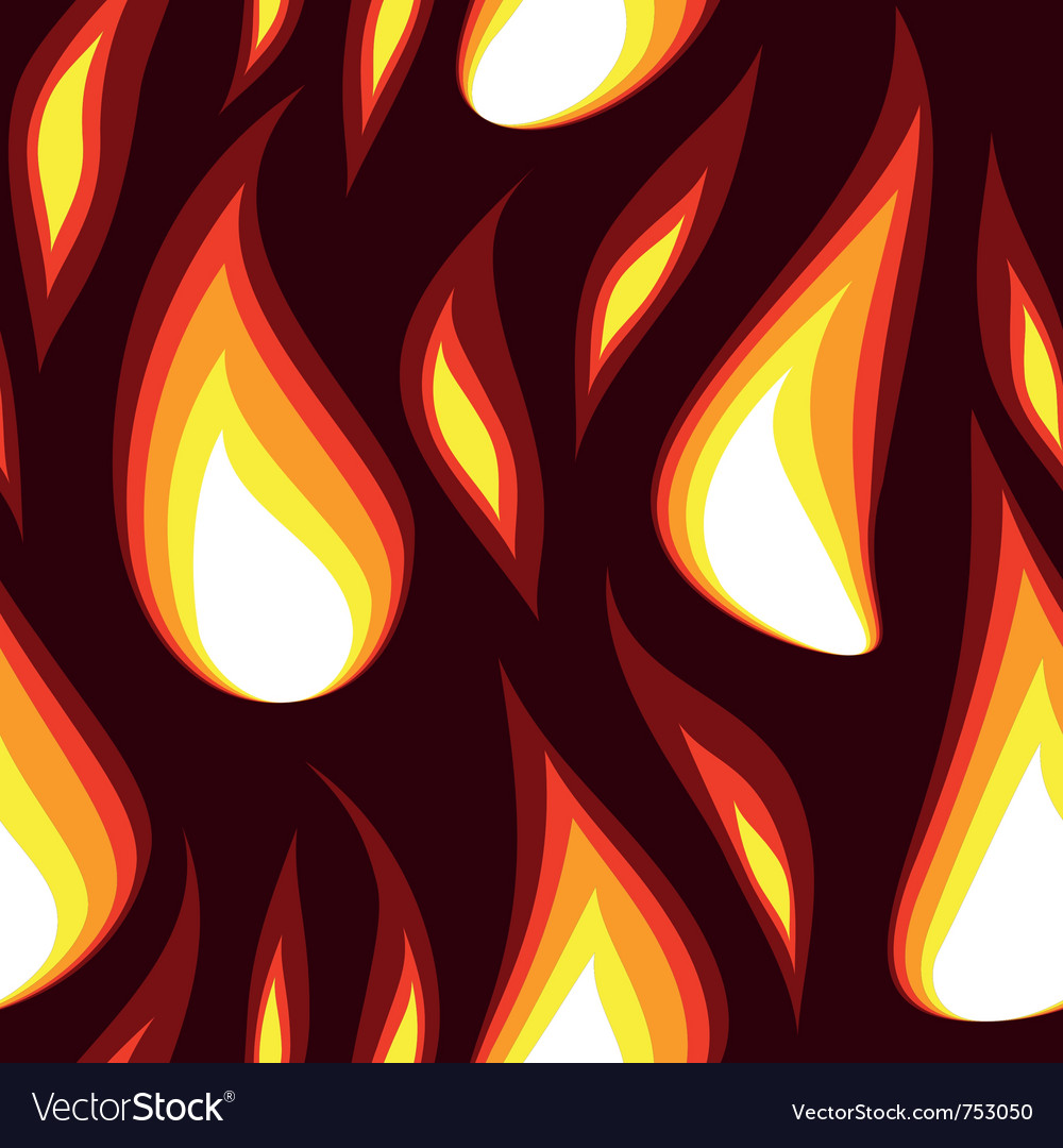 Red flame seamless background vector | Price: 1 Credit (USD $1)