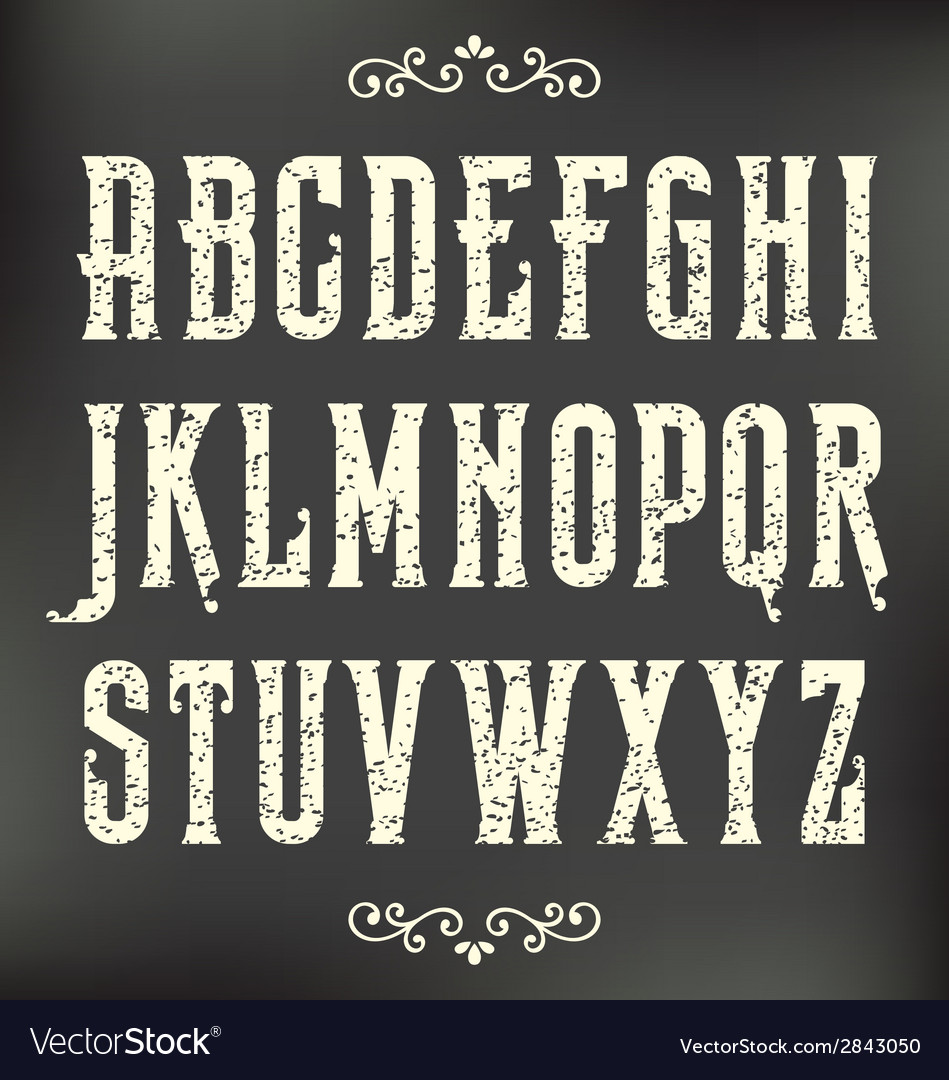 Vintage alphabet vector | Price: 1 Credit (USD $1)