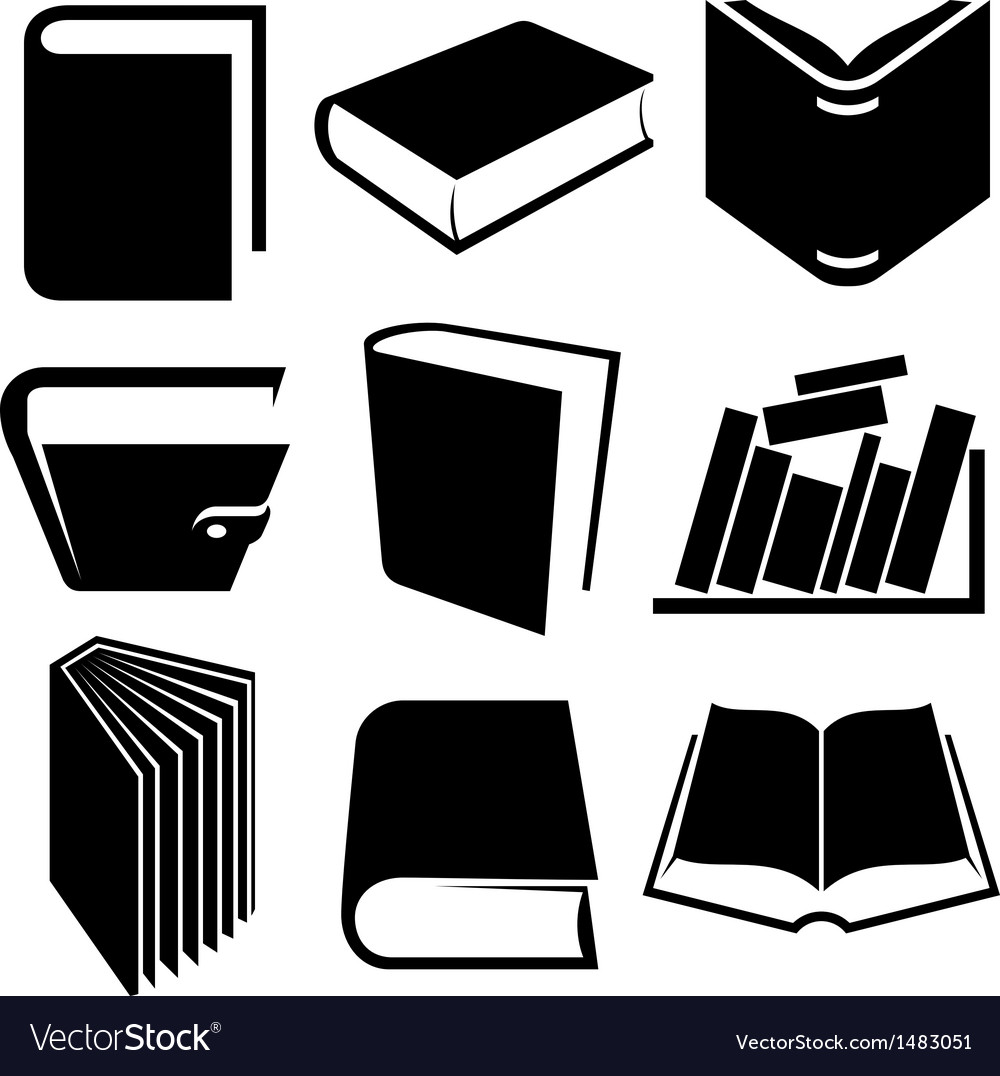Book icon and logo set vector | Price: 1 Credit (USD $1)
