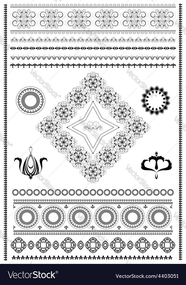 Brush ornaments vector | Price: 1 Credit (USD $1)