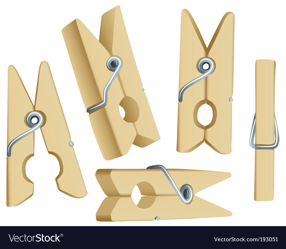 Clothes pins vector | Price: 1 Credit (USD $1)
