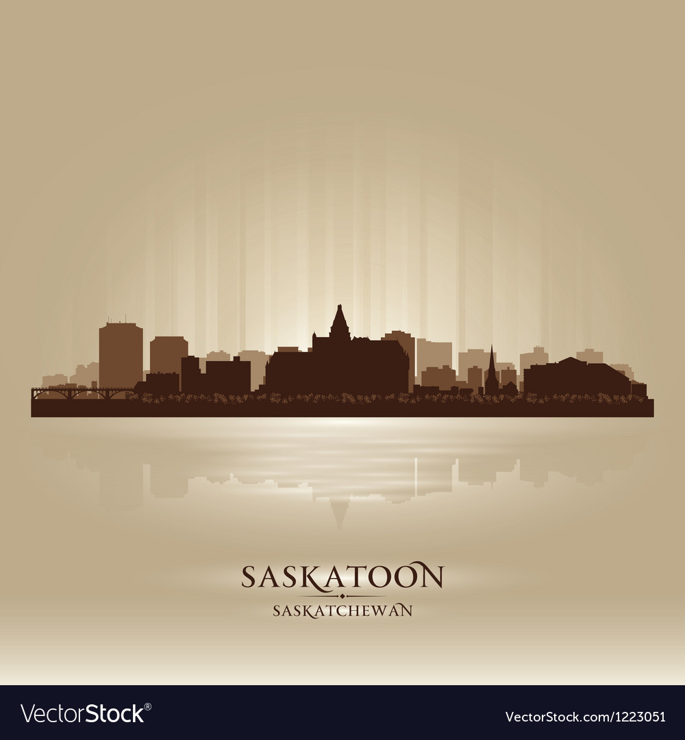 Saskatoon saskatchewan skyline city silhouette vector | Price: 1 Credit (USD $1)