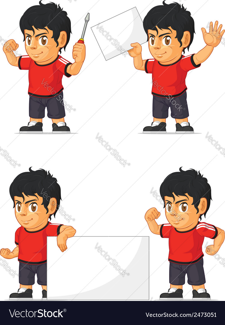Soccer boy customizable mascot 19 vector | Price: 1 Credit (USD $1)