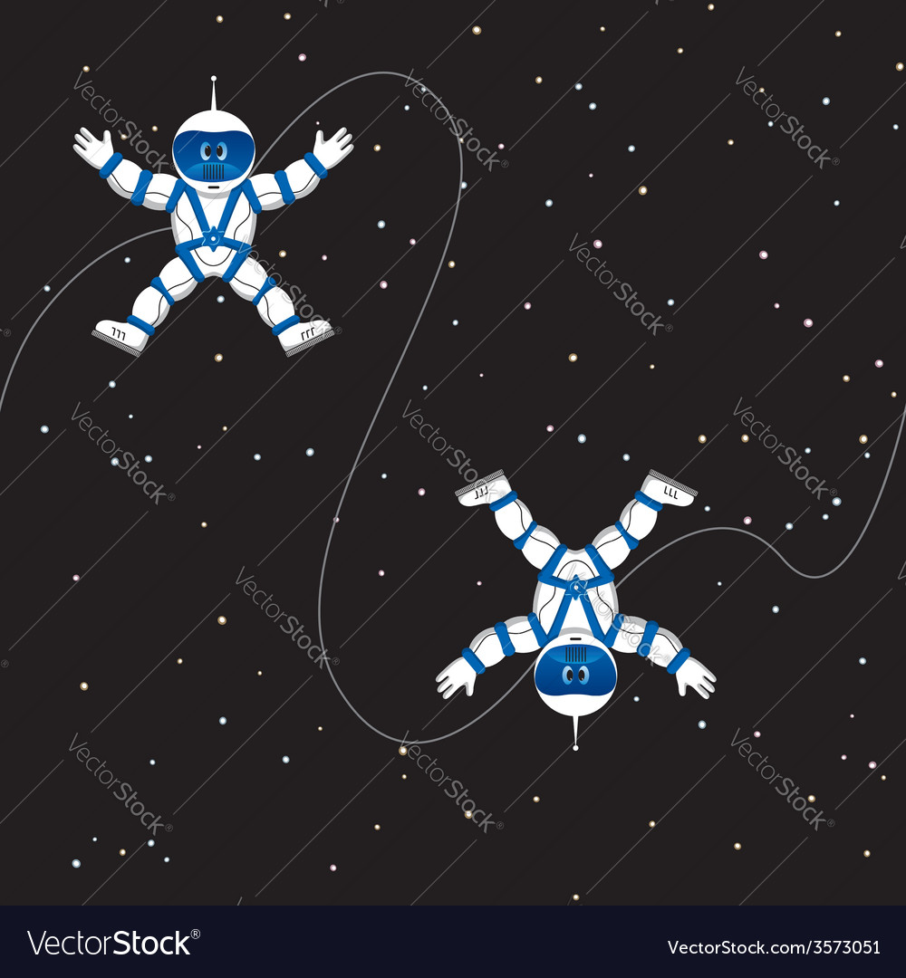 Spaceman seamless pattern vector | Price: 1 Credit (USD $1)