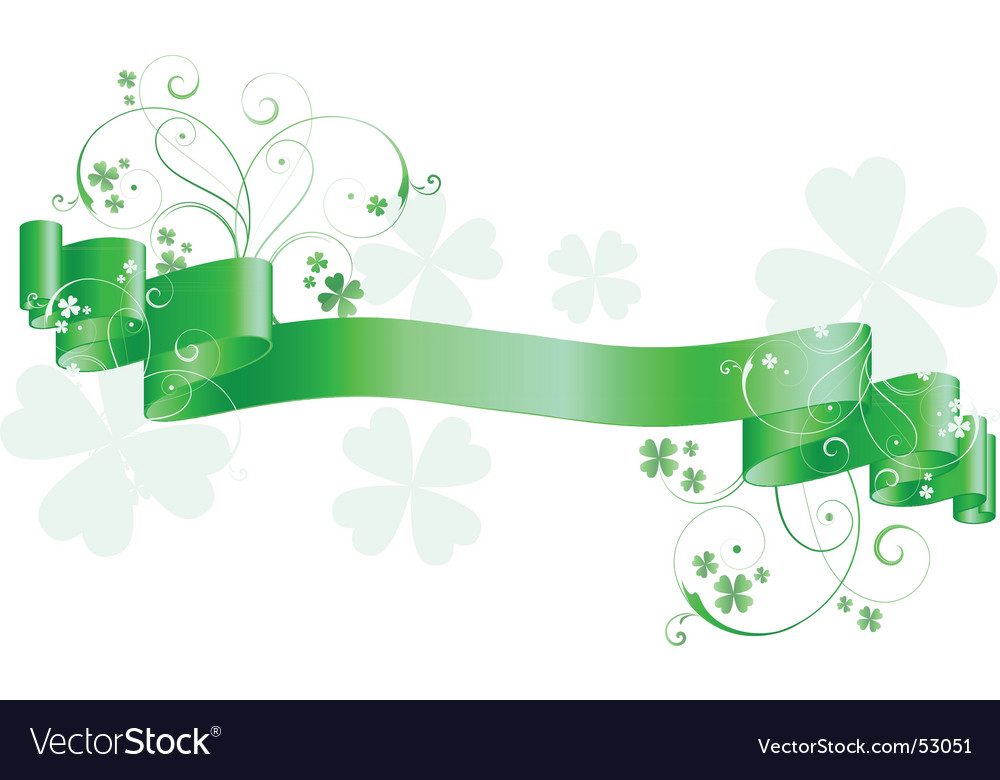 St patrick's  day scroll vector | Price: 1 Credit (USD $1)