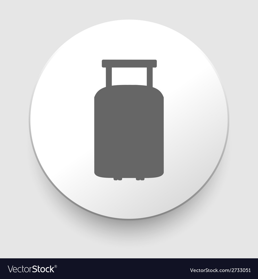 Travel luggage suitcase web black icon vector | Price: 1 Credit (USD $1)
