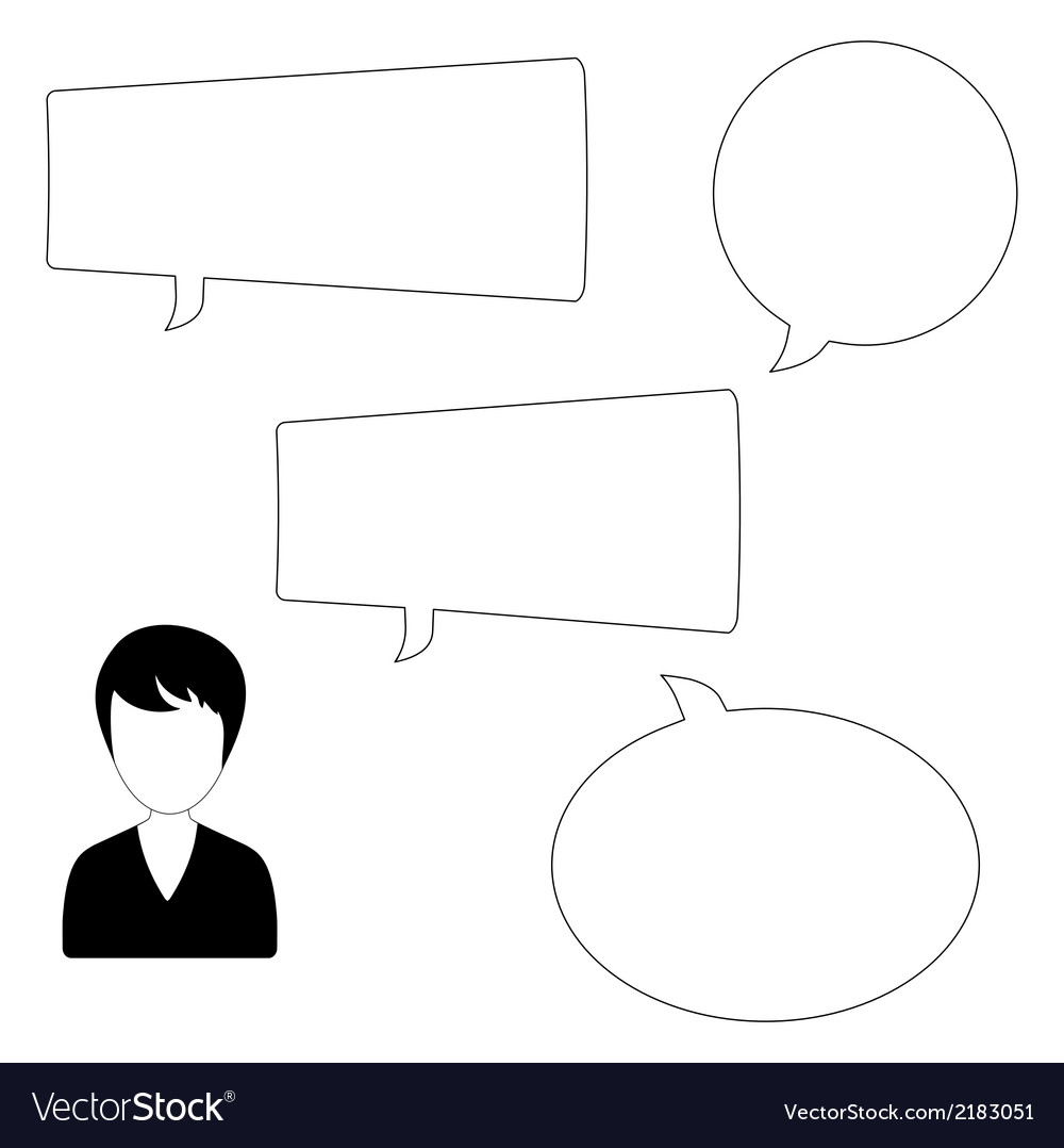 Woman and speech bubbles vector | Price: 1 Credit (USD $1)