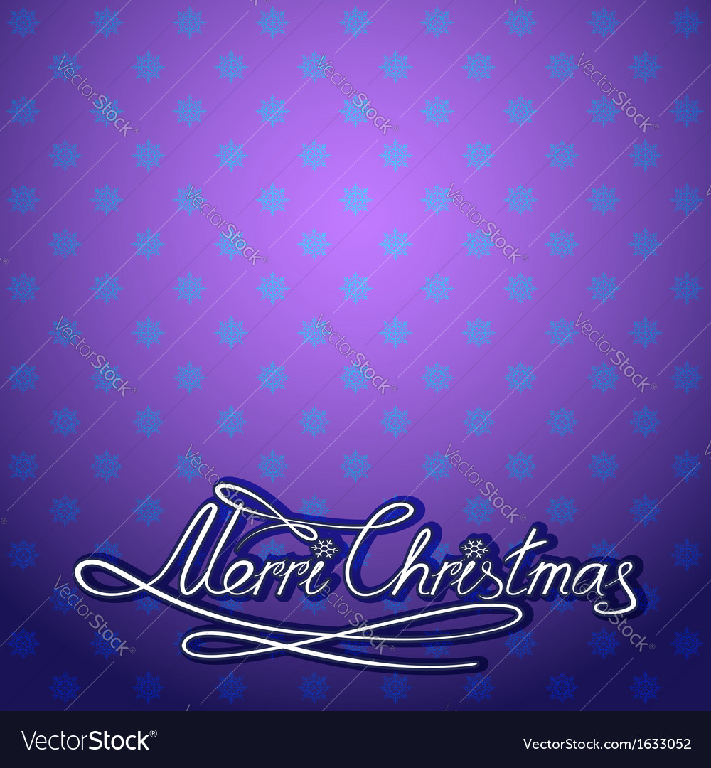 Christmas card merry christmas lettering vector | Price: 1 Credit (USD $1)