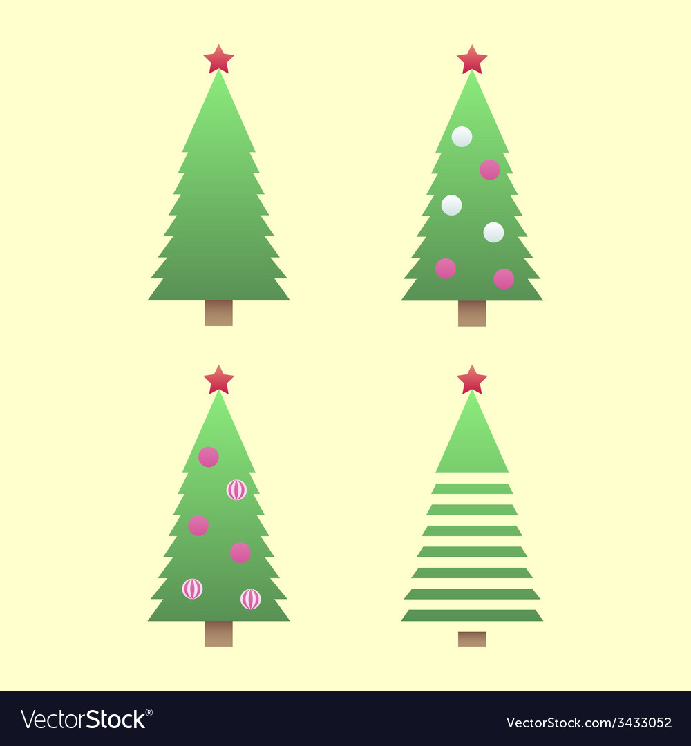 Christmas tree gradient vector | Price: 1 Credit (USD $1)