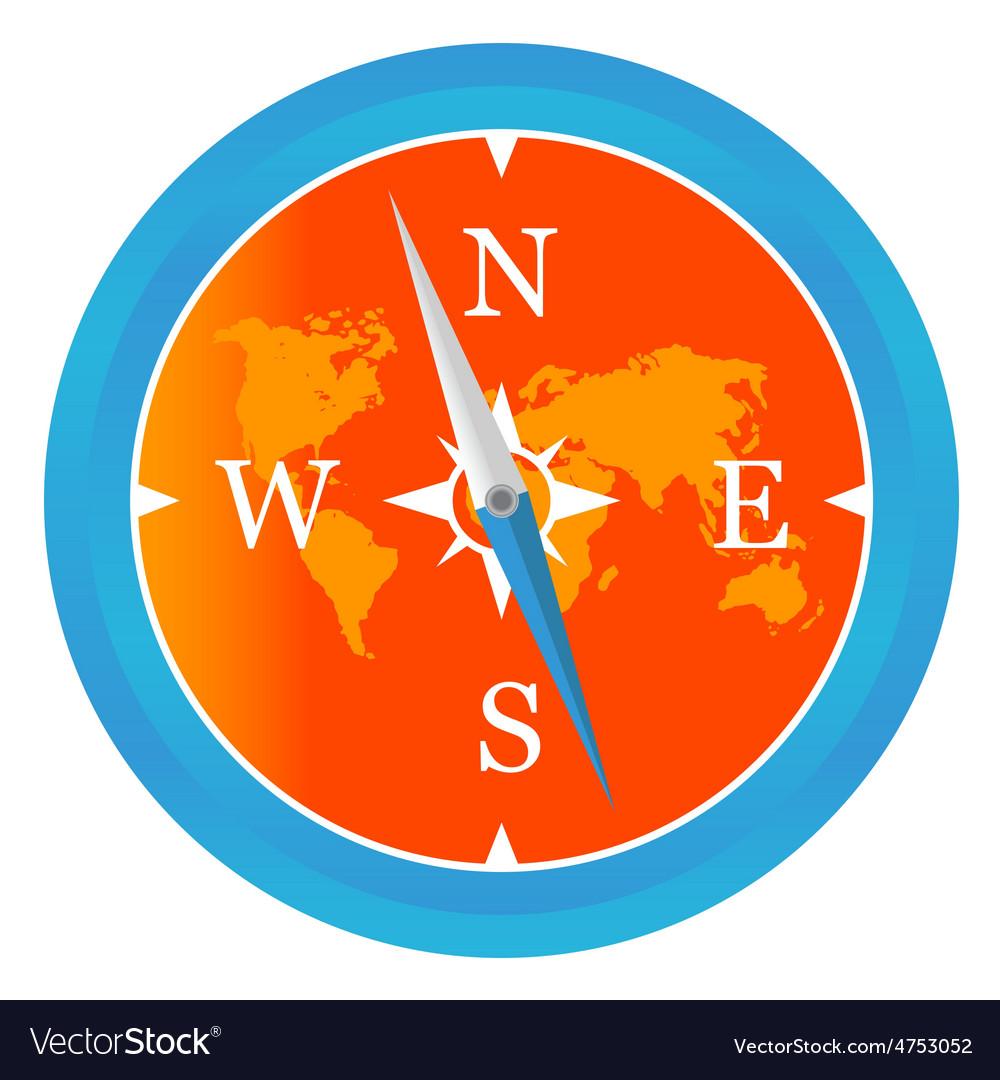 Colored compass icon vector | Price: 1 Credit (USD $1)