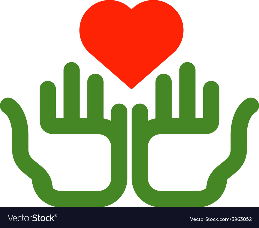 Heart and hands logo design template ecology or vector   Price: 1 Credit (USD $1)