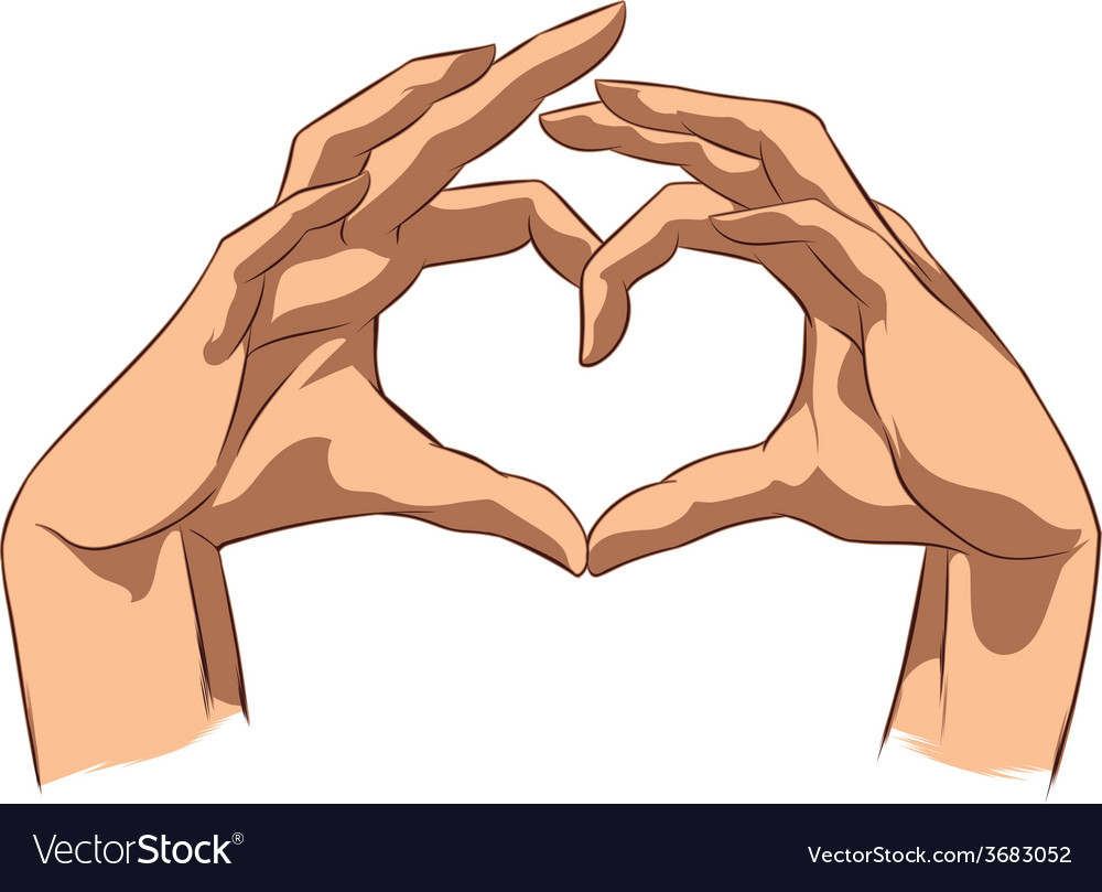 Love symbol made by hands vector | Price: 1 Credit (USD $1)