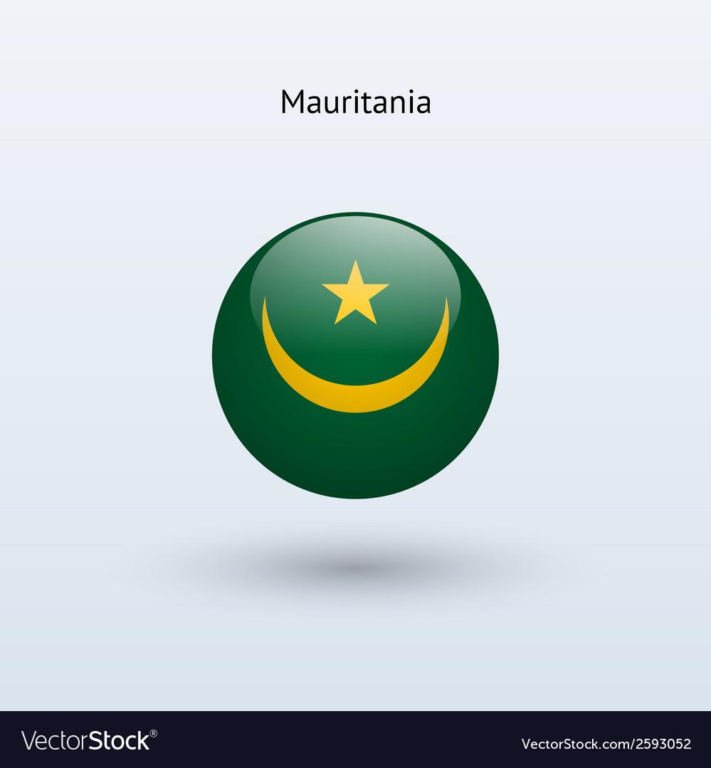 Mauritania round flag vector | Price: 1 Credit (USD $1)