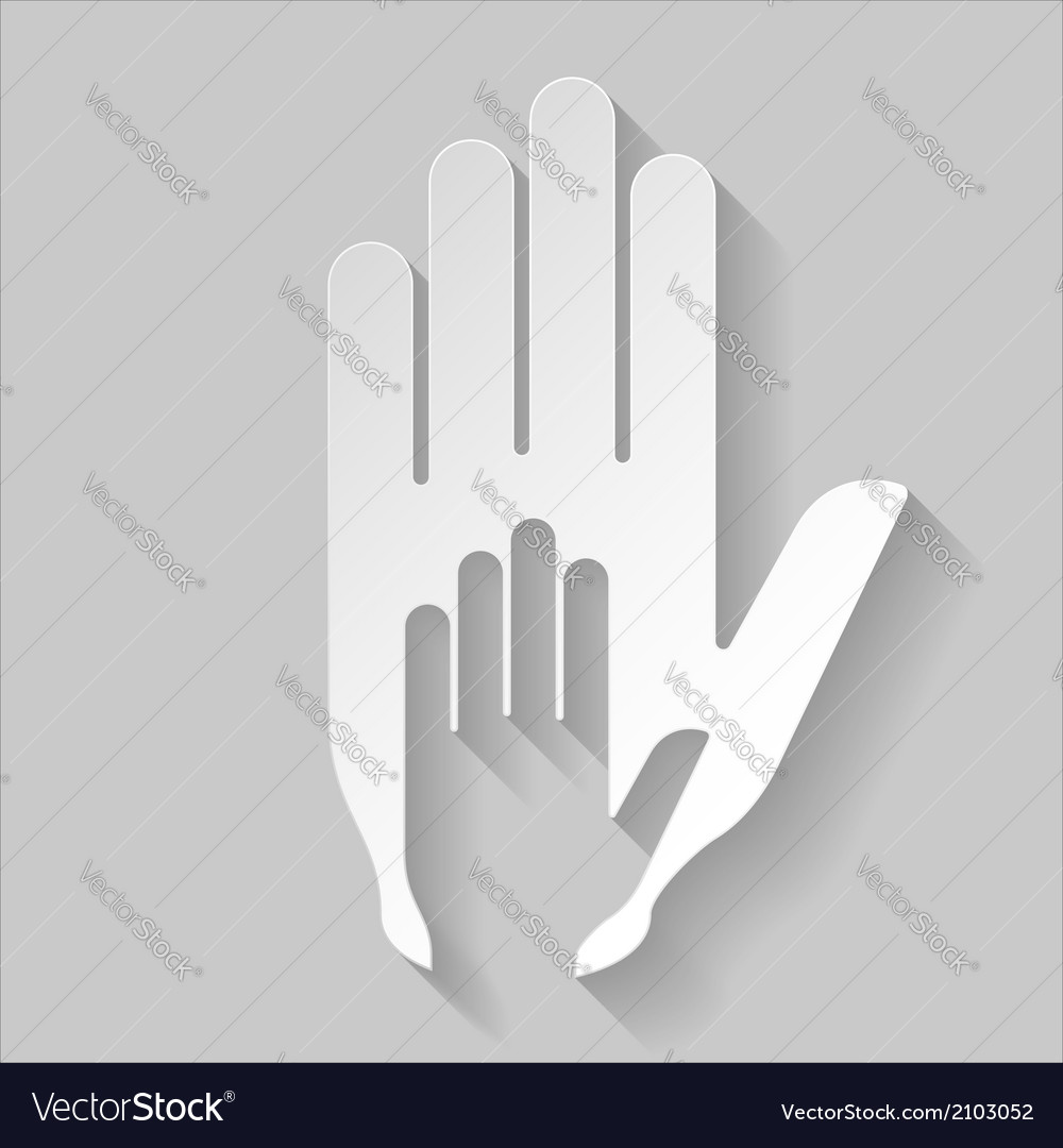 Paper helping hand vector | Price: 1 Credit (USD $1)