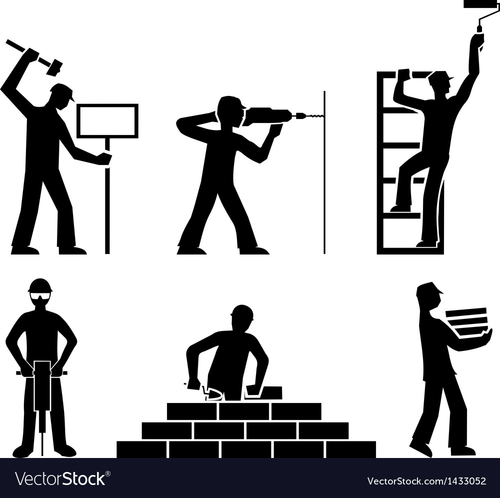 Set builders outline vector | Price: 1 Credit (USD $1)