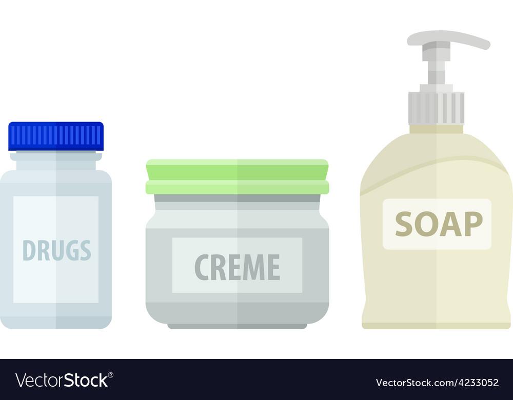 Set of bottles for bath soap vector | Price: 1 Credit (USD $1)