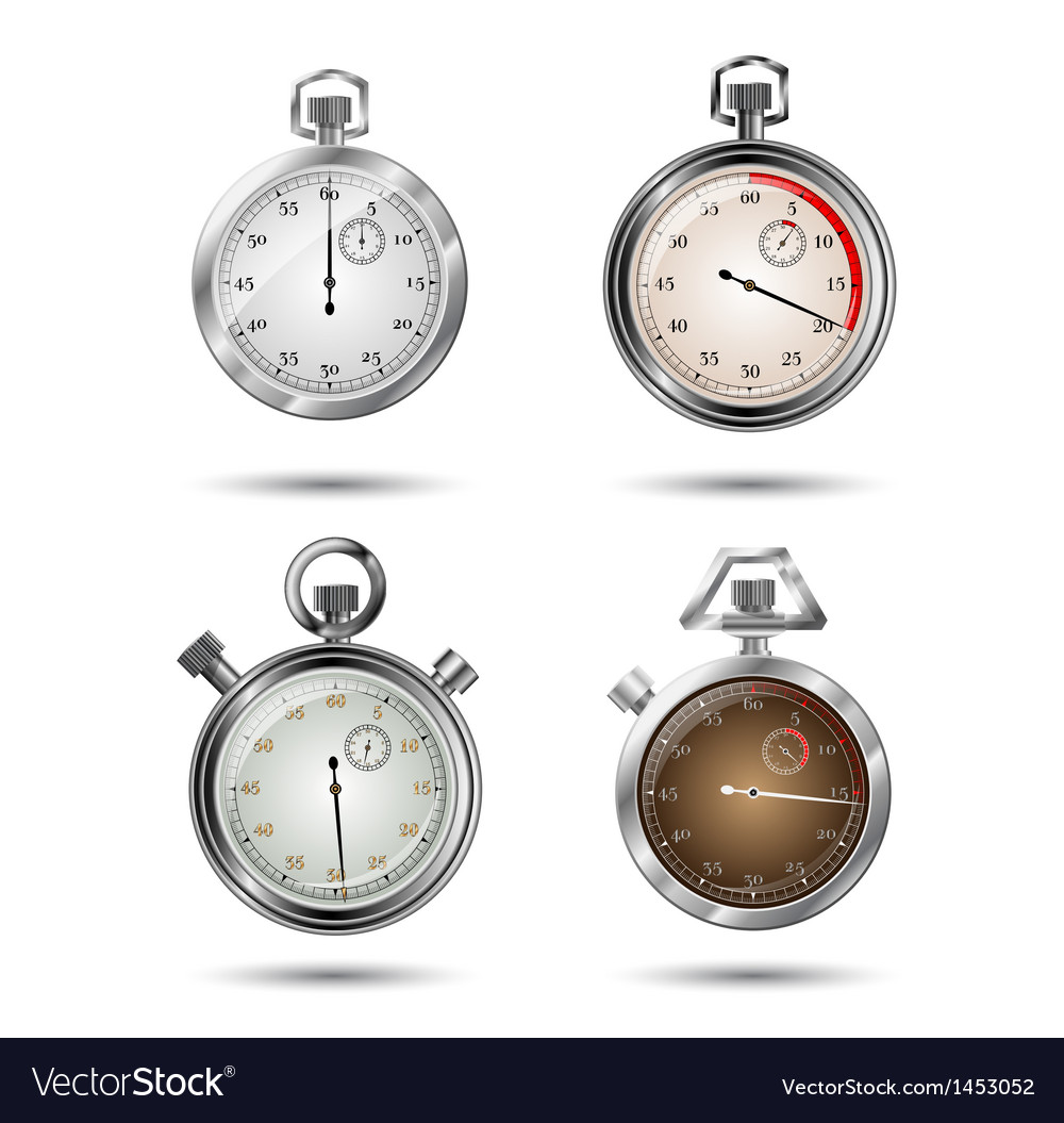 Set of stopwatches vector | Price: 1 Credit (USD $1)