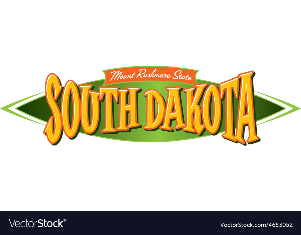 South dakota mount rushmore state vector | Price: 1 Credit (USD $1)