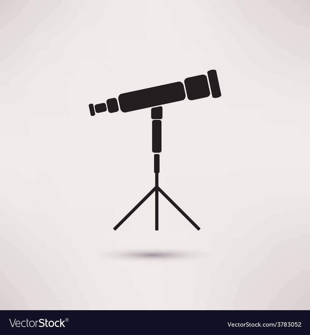 Telescope icon in the flat style vector | Price: 1 Credit (USD $1)