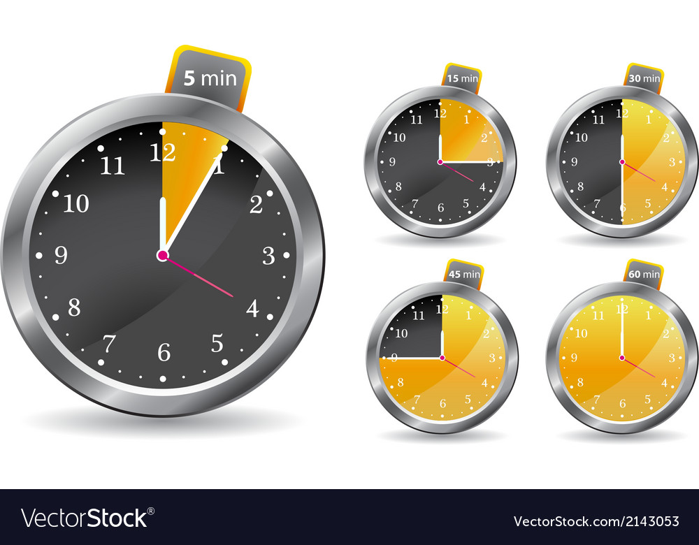 Black timer clock vector | Price: 1 Credit (USD $1)