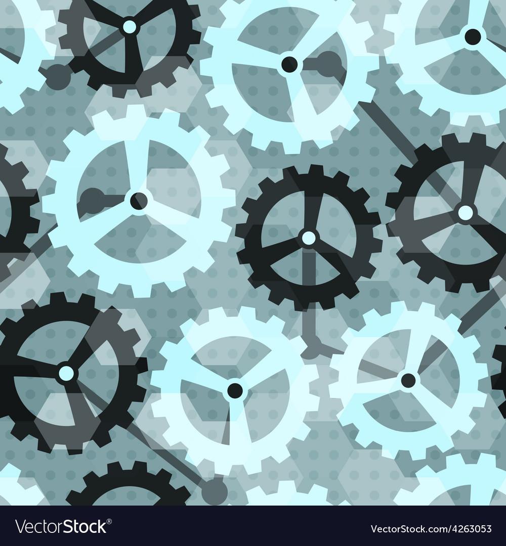 Blue cogwheel seamless pattern vector | Price: 1 Credit (USD $1)