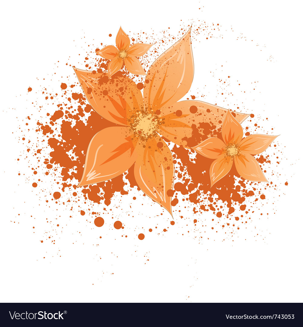 Flowers with blotches vector | Price: 1 Credit (USD $1)