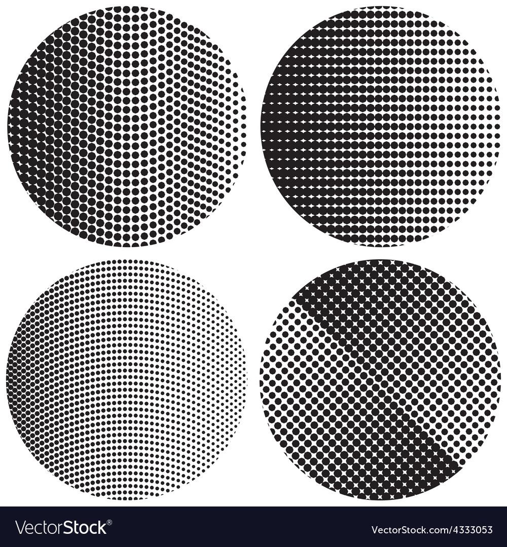Halftone round textures vector | Price: 1 Credit (USD $1)