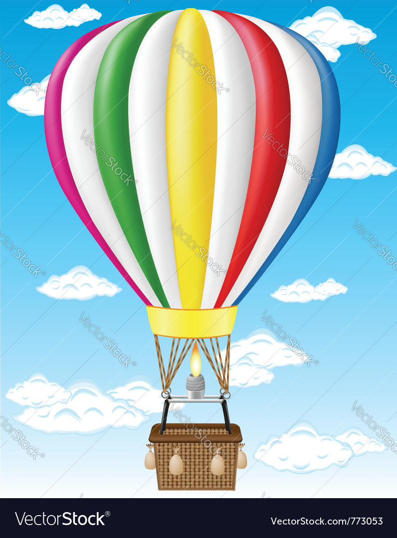 Hot air balloon vector | Price: 1 Credit (USD $1)