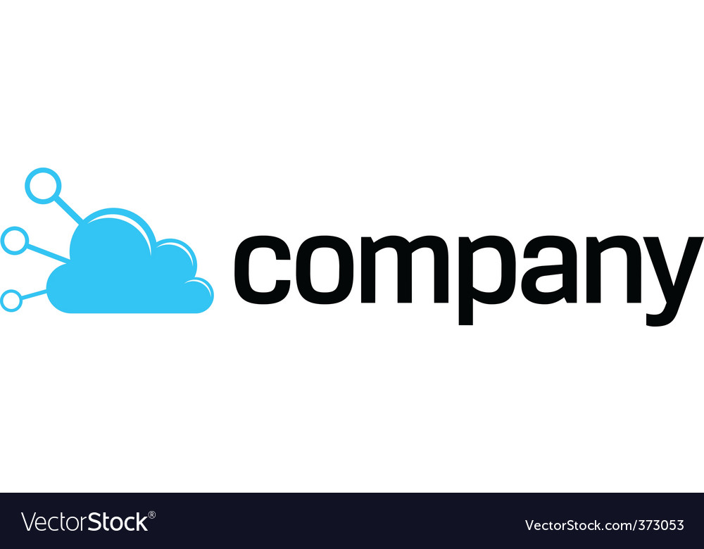Internet connection cloud logo vector | Price: 1 Credit (USD $1)