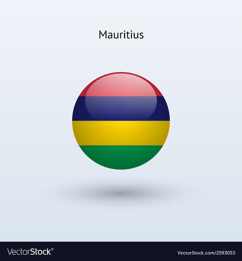 Mauritius round flag vector   Price: 1 Credit (USD $1)
