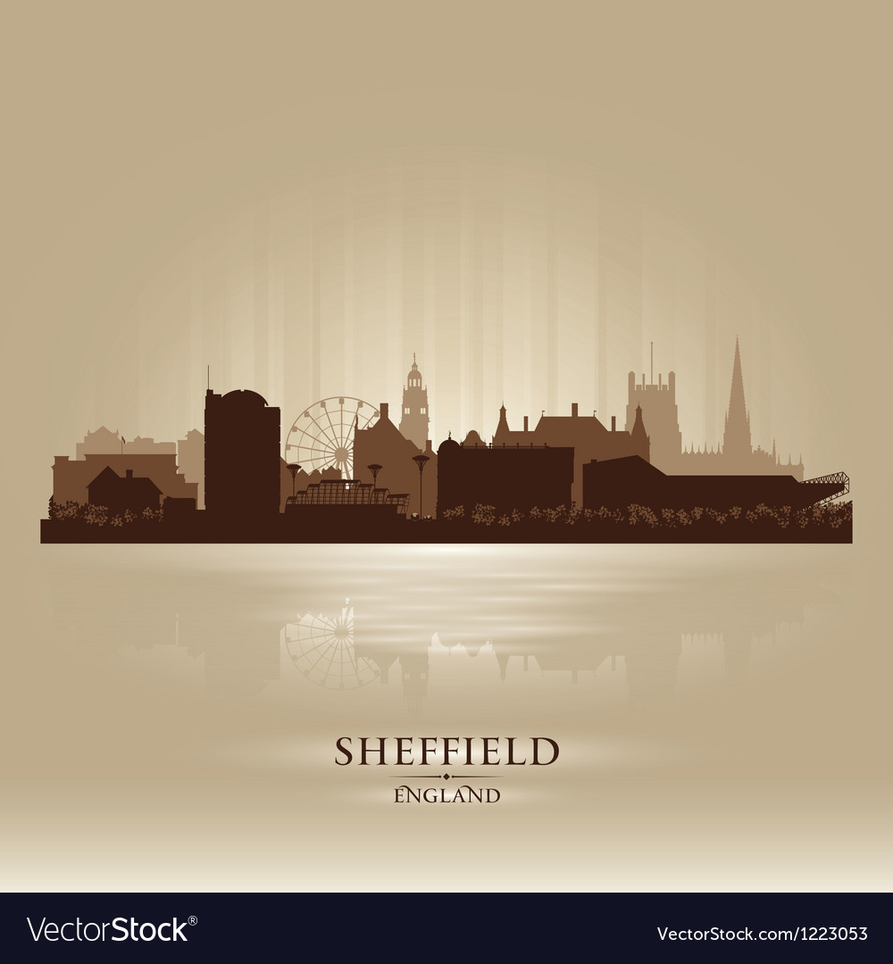 Sheffield england skyline city silhouette vector | Price: 1 Credit (USD $1)