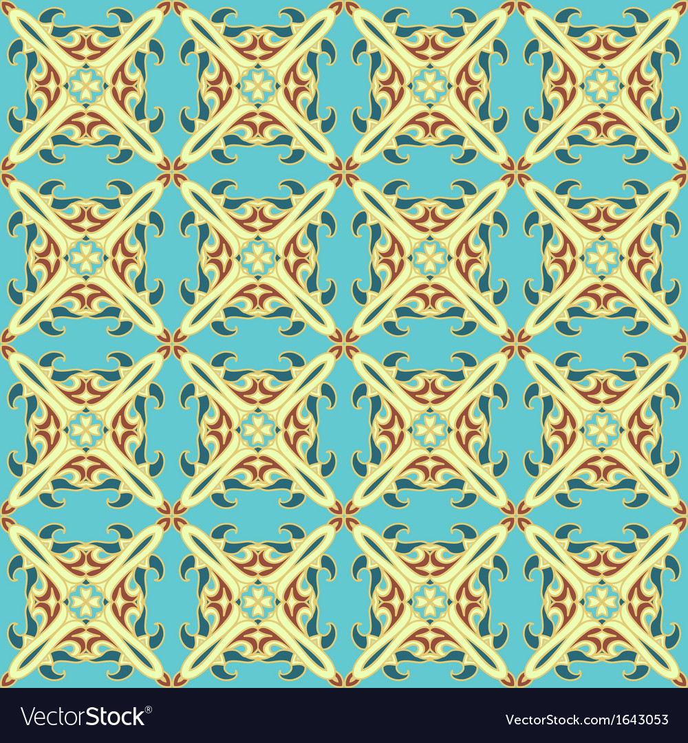 Tiled seamless pattern vector | Price: 1 Credit (USD $1)