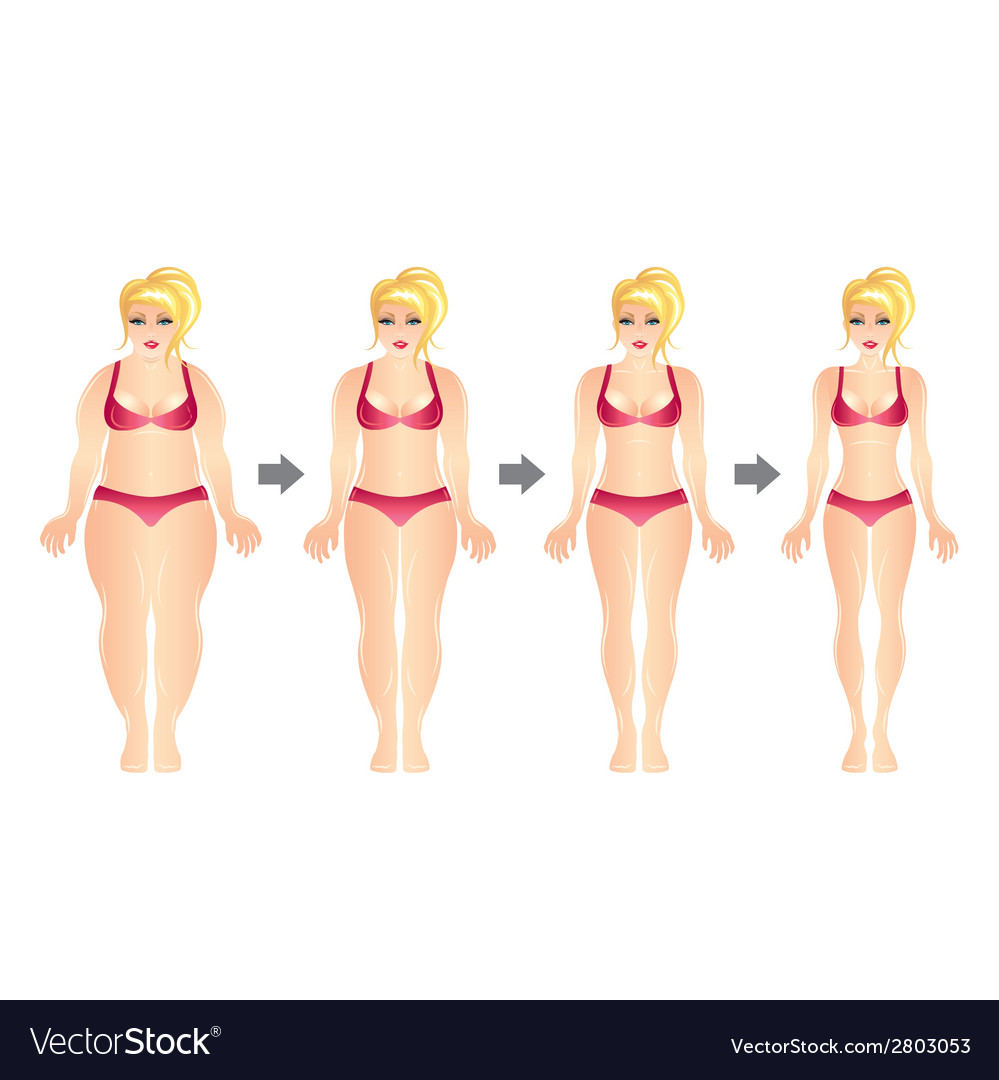Weight loss woman vector | Price: 1 Credit (USD $1)