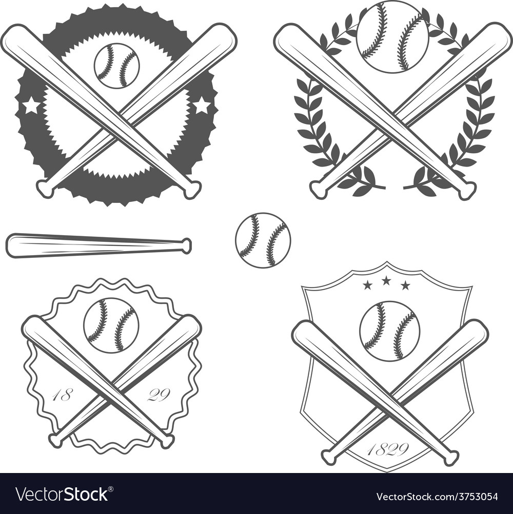 American baseball vector | Price: 1 Credit (USD $1)