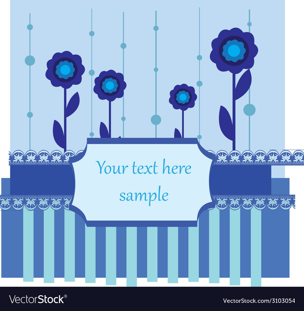 Blue card vector | Price: 1 Credit (USD $1)