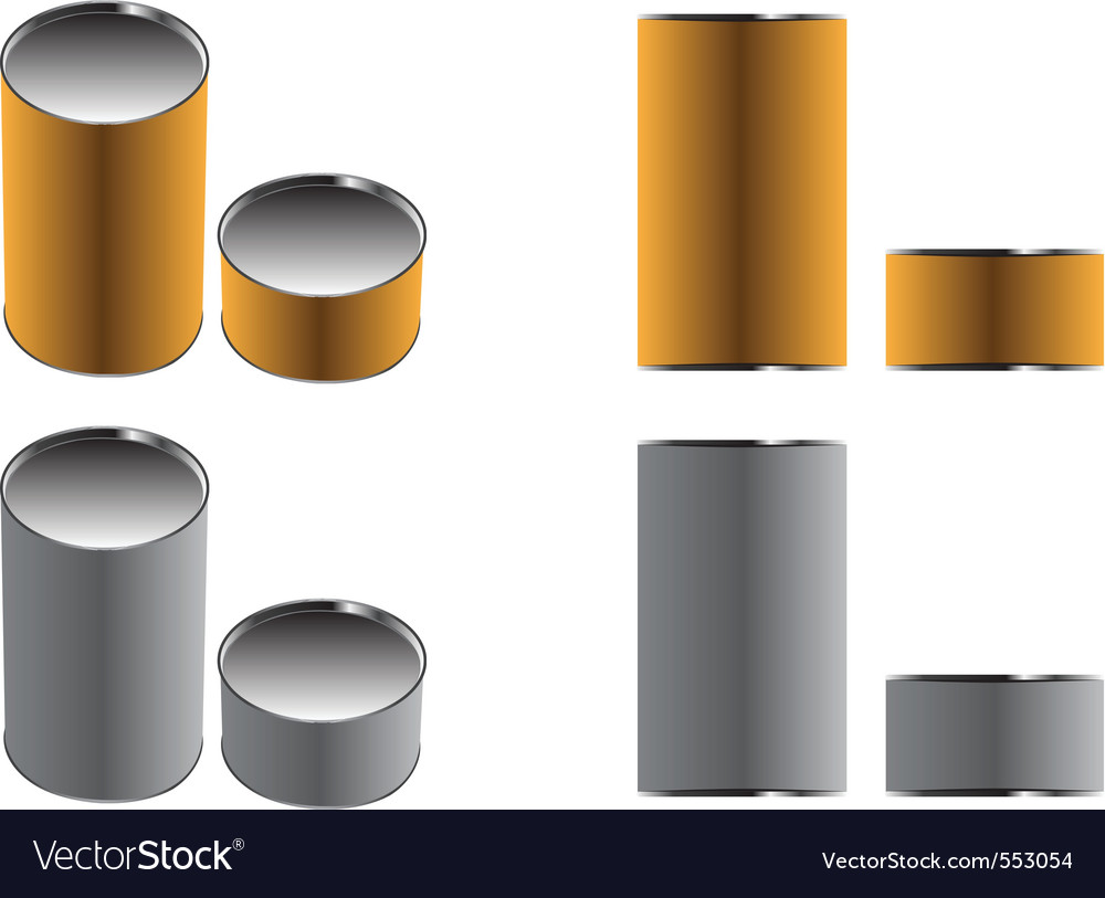 Cans paper brown and gray two color two views illu vector | Price: 1 Credit (USD $1)