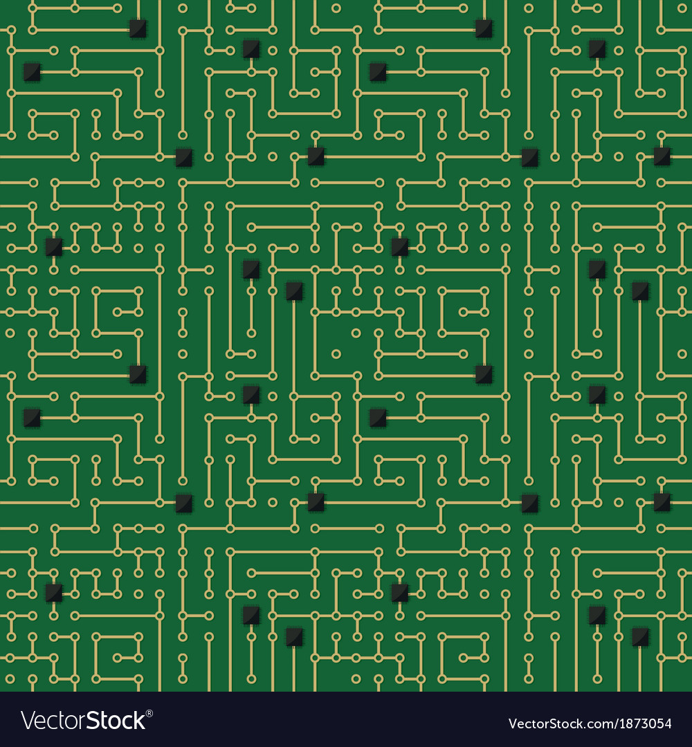 Computer circuit board pattern vector | Price: 1 Credit (USD $1)