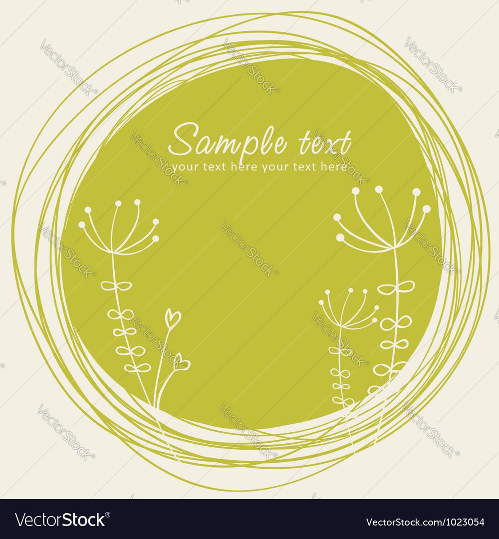 Cute sketch flower retro postcard vector | Price: 1 Credit (USD $1)