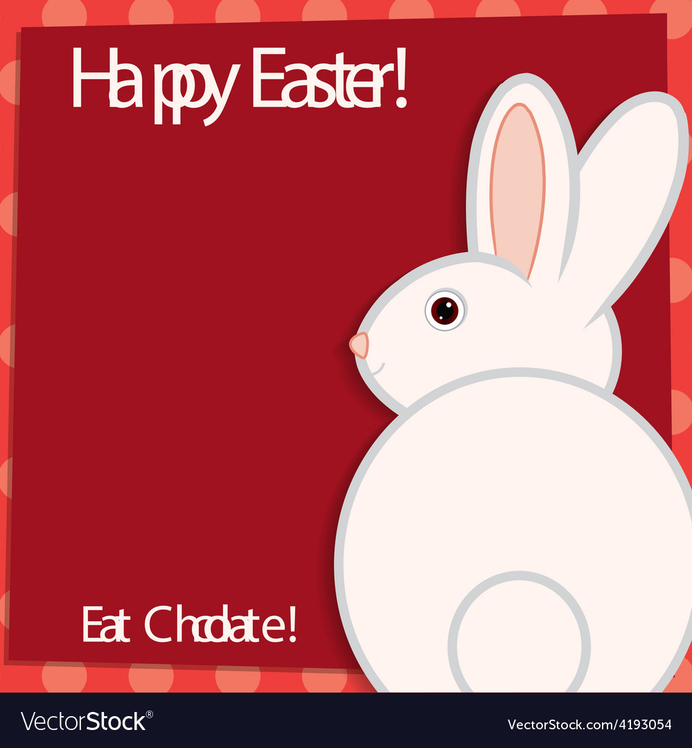 Funky easter bunny card in format vector | Price: 1 Credit (USD $1)