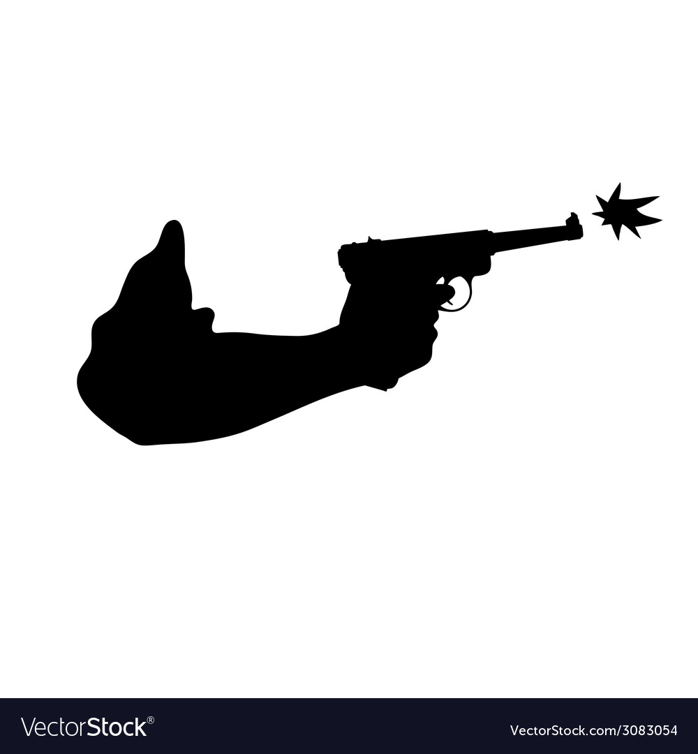 Gun in hand vector | Price: 1 Credit (USD $1)