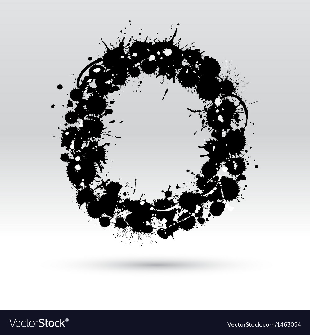 Letter o formed by inkblots vector | Price: 1 Credit (USD $1)
