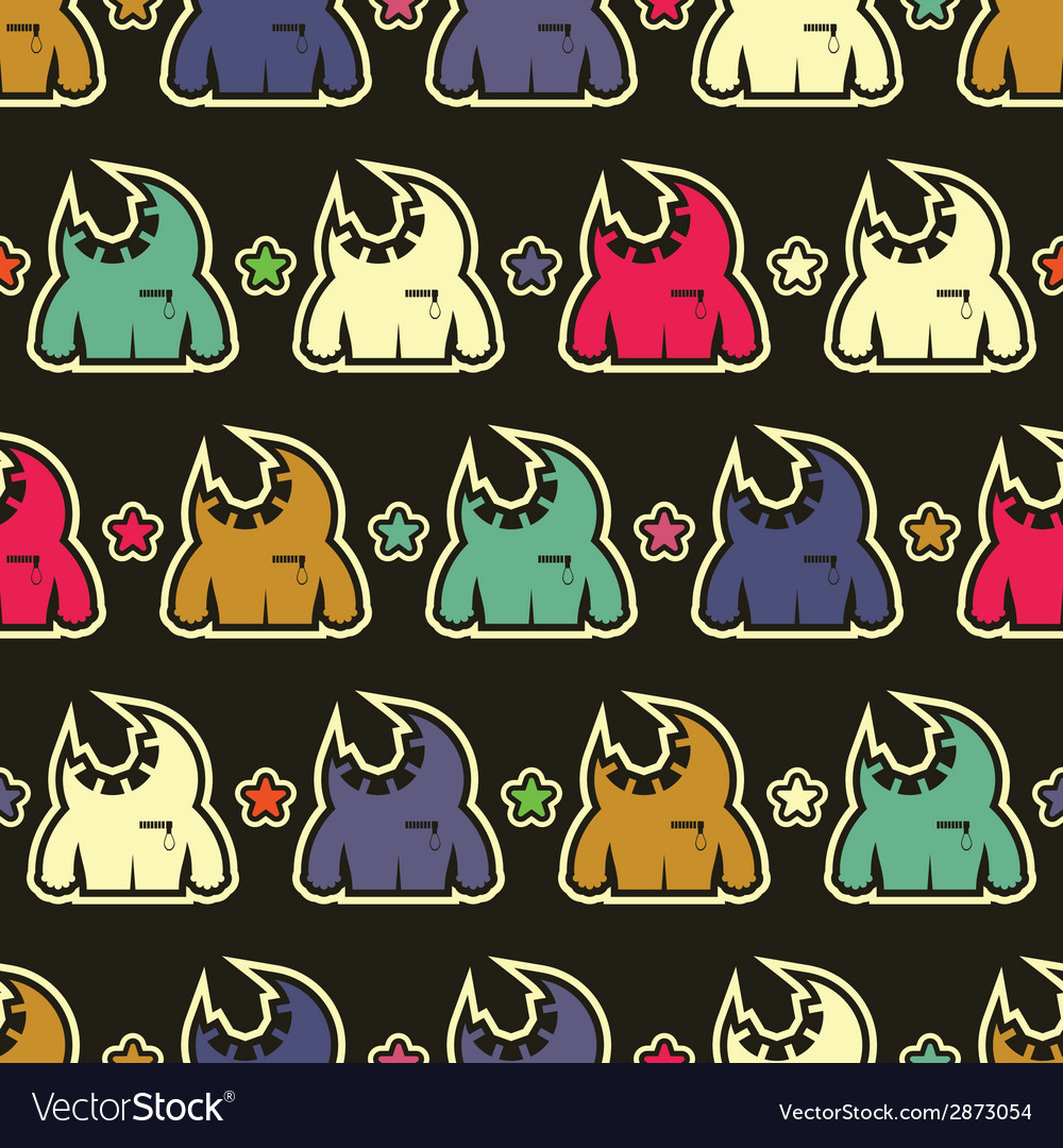 Monsters - seamless pattern vector | Price: 1 Credit (USD $1)