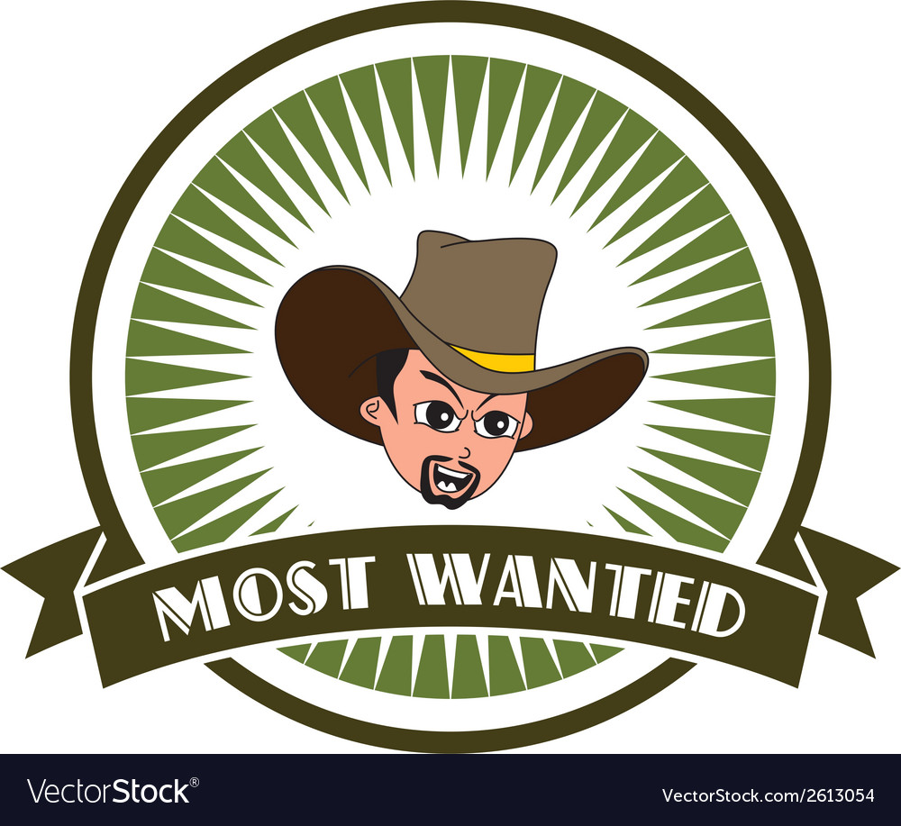 Most wanted emblem vector | Price: 1 Credit (USD $1)
