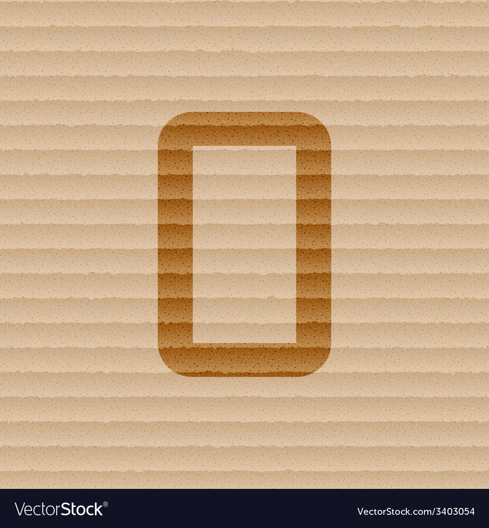Number zero icon symbol flat modern web design vector | Price: 1 Credit (USD $1)