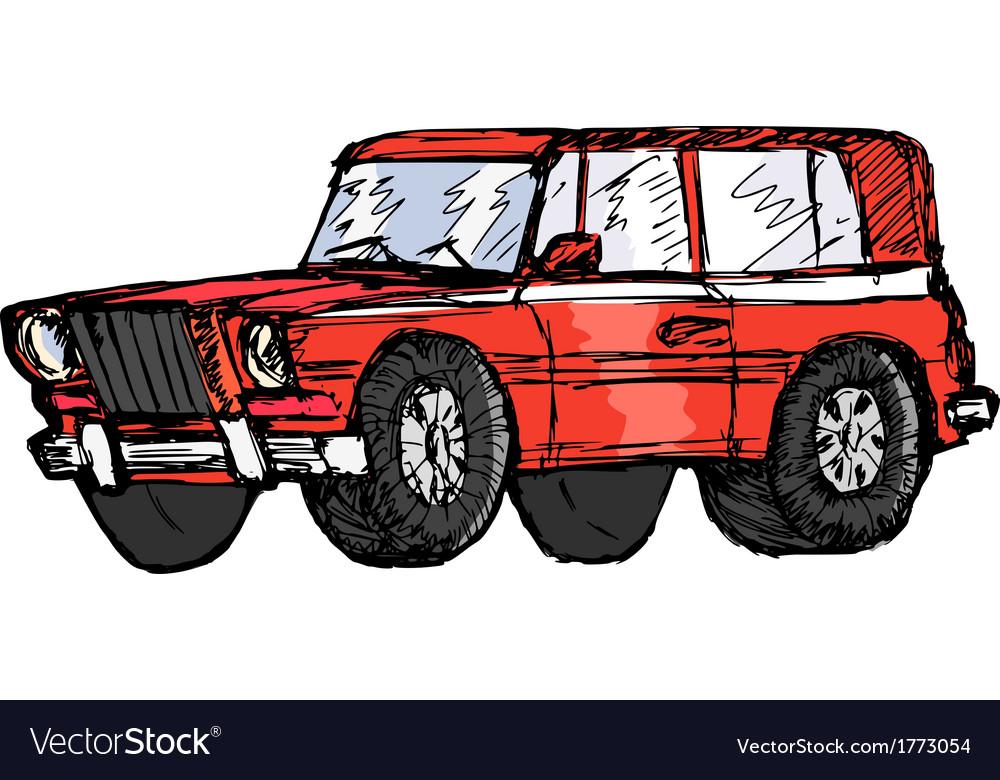 Off-road car vector | Price: 1 Credit (USD $1)