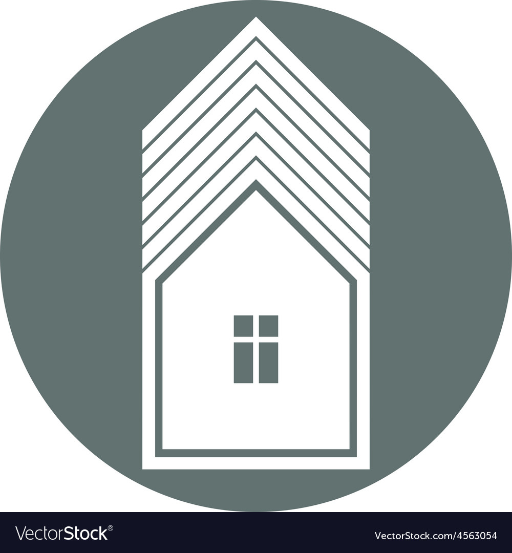 Real estate icon abstract house property developer vector | Price: 1 Credit (USD $1)