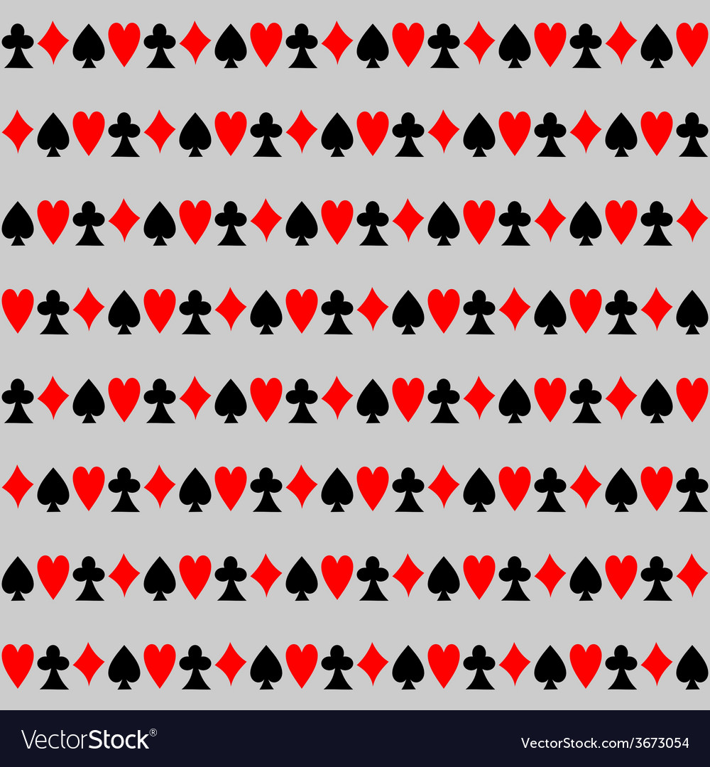 Seamless pattern with cards background vector | Price: 1 Credit (USD $1)