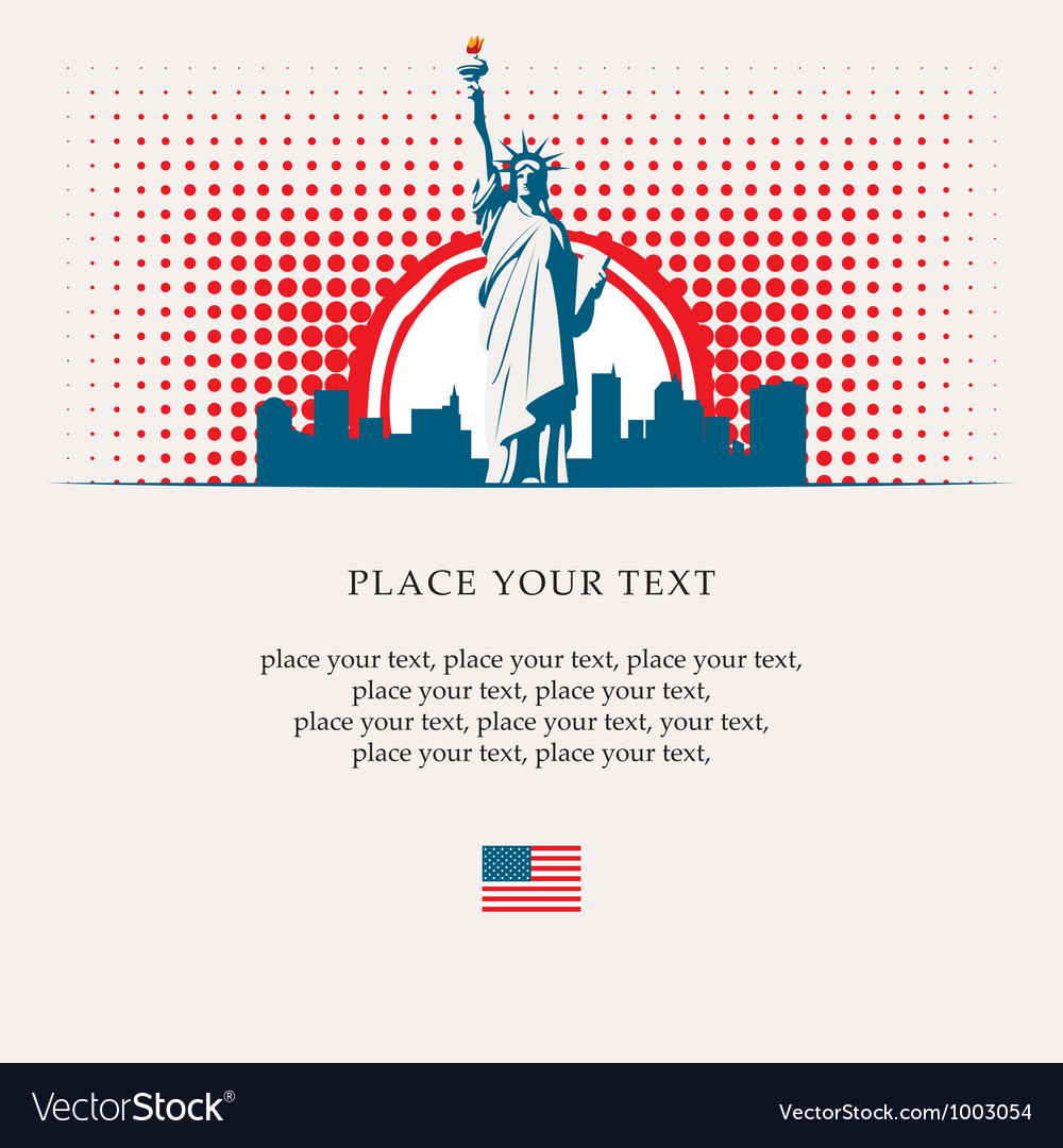 Statue of liberty vector   Price: 1 Credit (USD $1)