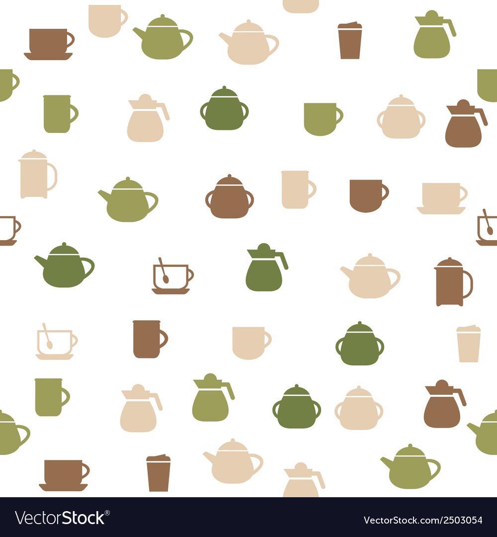 Tea seamless pattern vector | Price: 1 Credit (USD $1)